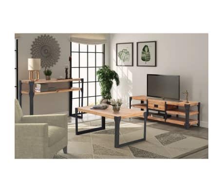 vidaXL Woonkamer meubelset massief acaciahout 3-delig online kopen ...
