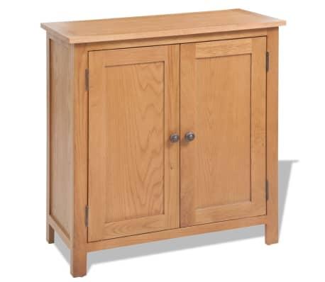 vidaXL Svetainės baldų komplektas, 5d., masyvi ąžuolo mediena[12/33]