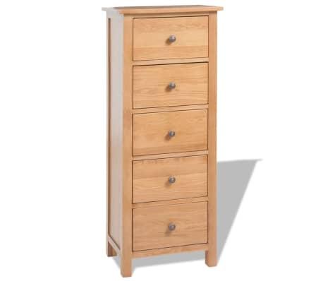 vidaXL Svetainės baldų komplektas, 5d., masyvi ąžuolo mediena[14/33]