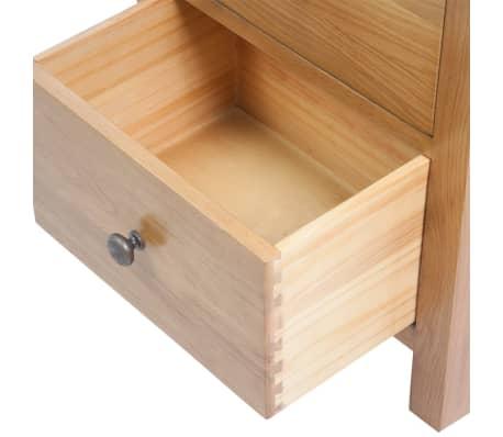 vidaXL Svetainės baldų komplektas, 5d., masyvi ąžuolo mediena[16/33]