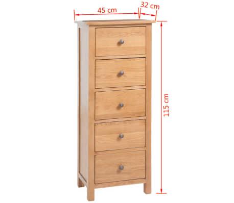 vidaXL Svetainės baldų komplektas, 5d., masyvi ąžuolo mediena[19/33]