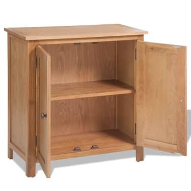 vidaXL Svetainės baldų komplektas, 5d., masyvi ąžuolo mediena[13/33]