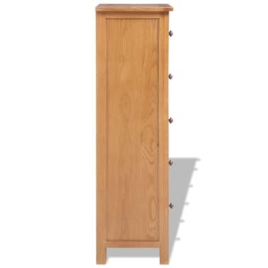 vidaXL Svetainės baldų komplektas, 5d., masyvi ąžuolo mediena[15/33]