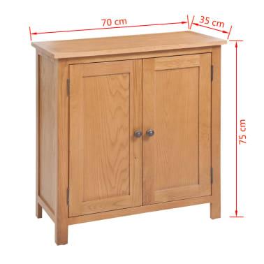 vidaXL 5-delni komplet pohištva za dnevno sobo trden hrastov les[18/33]