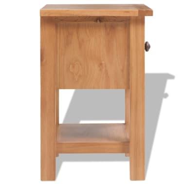 vidaXL Svetainės baldų komplektas, 5d., masyvi ąžuolo mediena[4/33]