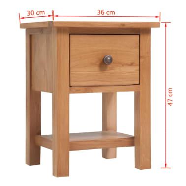 vidaXL Svetainės baldų komplektas, 5d., masyvi ąžuolo mediena[6/33]