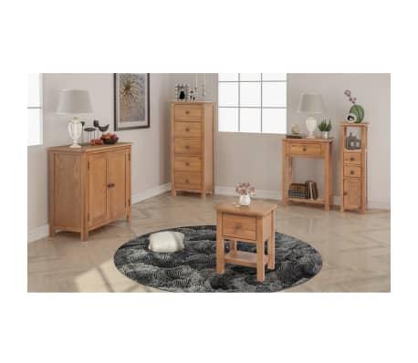 vidaXL Svetainės baldų komplektas, 5d., masyvi ąžuolo mediena[1/33]