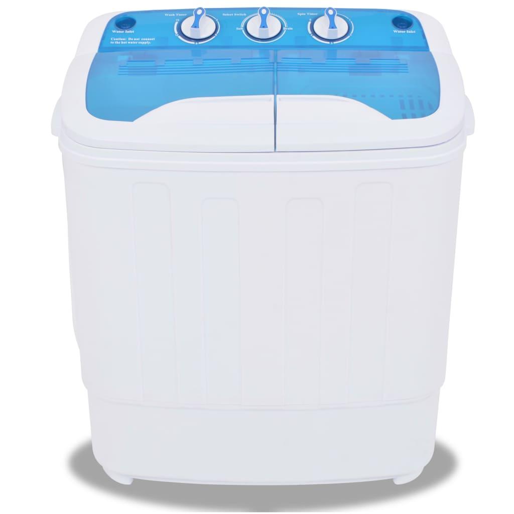 vidaXL Mini wasmachine met dubbele trommel 5,6 kg