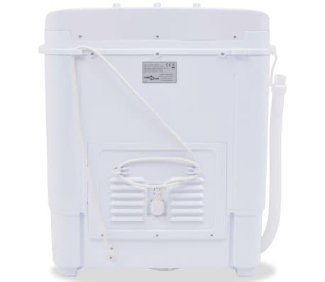 vidaxl mini waschmaschine mit schleuder und 2 kammern 5 6 kg g nstig kaufen. Black Bedroom Furniture Sets. Home Design Ideas