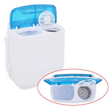 vidaXL Mini lavadora con 2 tambores 5,6 kg[5/8]