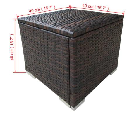 vidaxl sonnenliegen 2 tlg mit tisch poly rattan braun zum schn ppchenpreis. Black Bedroom Furniture Sets. Home Design Ideas