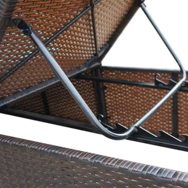 vidaxl sonnenliegen 2 tlg mit tisch poly rattan braun. Black Bedroom Furniture Sets. Home Design Ideas