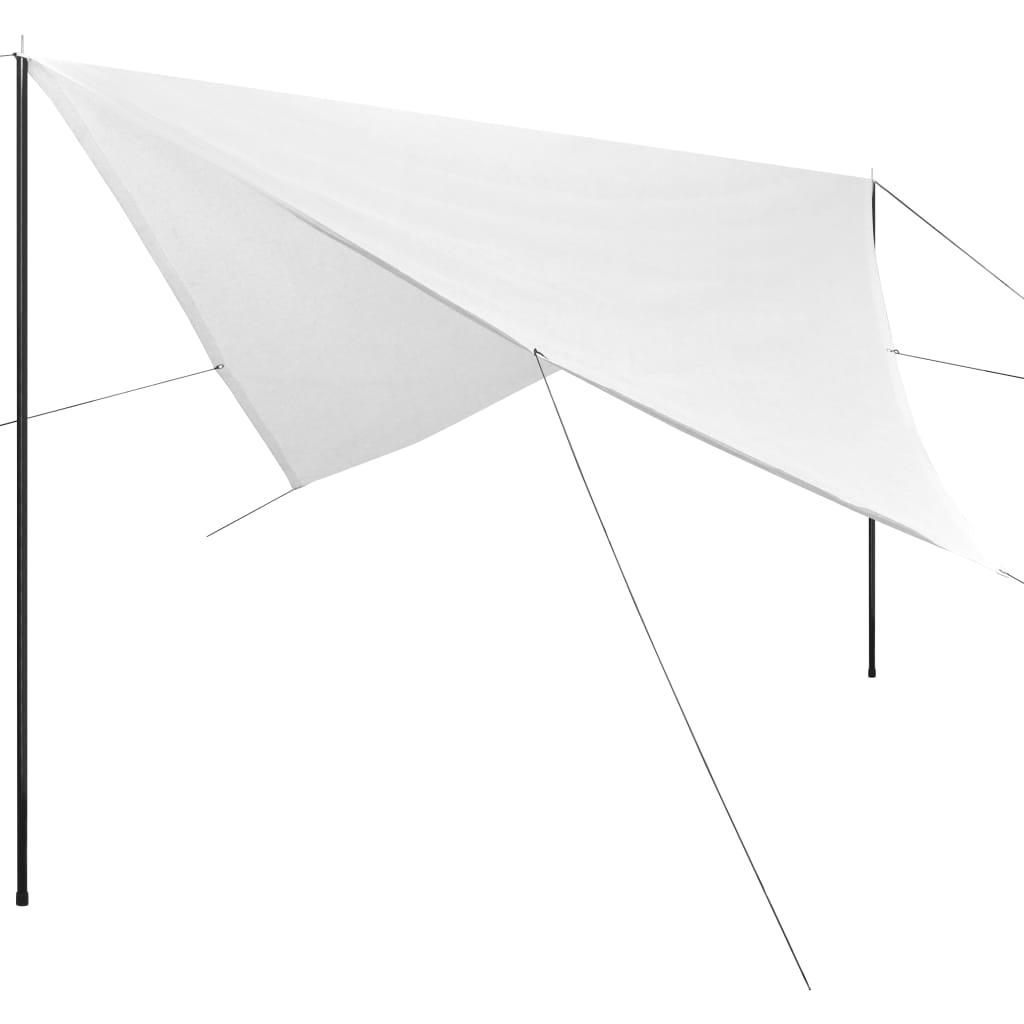vidaXL Πανί Σκίασης Τετράγωνο Λευκό 4 x 4 μ. από HDPE με Ιστούς
