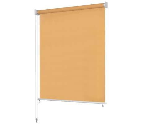vidaXL Rullgardin utomhus 140x140 cm beige