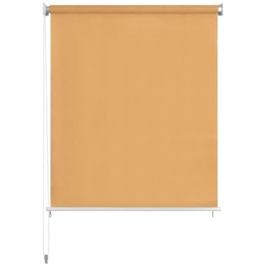 vidaXL Jaluzea tip rulou de exterior, 140 x 140 cm, bej[2/5]