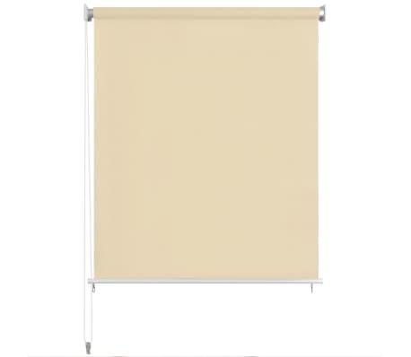 vidaXL Store roulant d'extérieur 140 x 140 cm Crème[2/5]