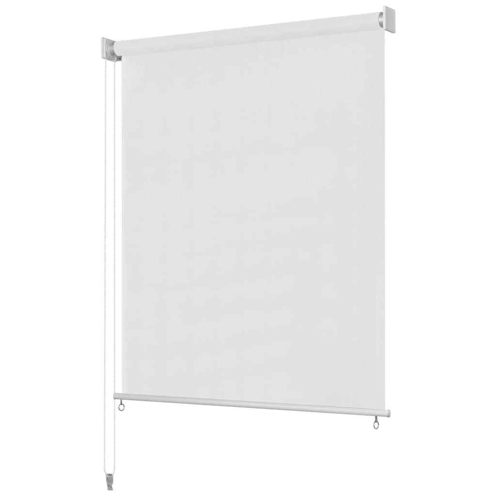 vidaXL Utendørs rullegardin 120X230 cm hvit