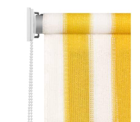 acheter vidaxl store roulant d 39 ext rieur 160x140 cm rayures jaunes et blanches pas cher. Black Bedroom Furniture Sets. Home Design Ideas