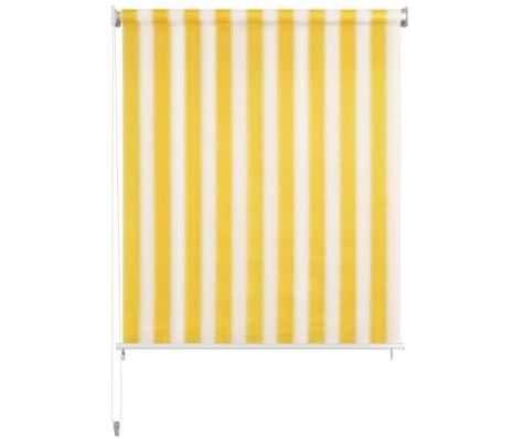 vidaxl store roulant d 39 ext rieur 200x230 cm rayures jaunes. Black Bedroom Furniture Sets. Home Design Ideas
