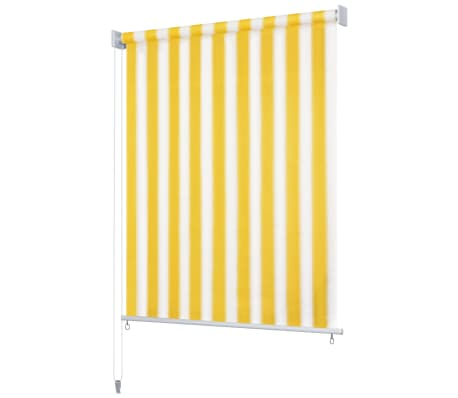 vidaXL Jaluzea rulou de exterior, 400 x 230 cm, dungi galben și alb