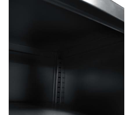 vidaXL Tv-meubel 118x40x60 cm zwart[7/9]