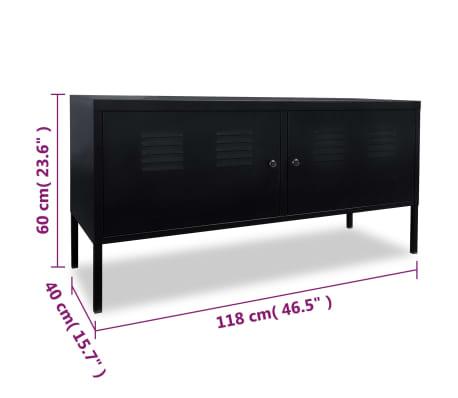 vidaXL Tv-meubel 118x40x60 cm zwart[9/9]