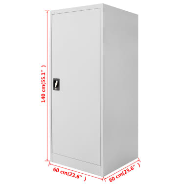 """vidaXL Saddle Cabinet 23.6""""x23.6""""x55.1""""[10/10]"""