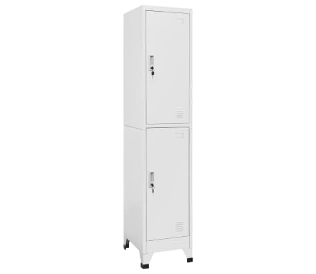 "vidaXL Locker Cabinet with 2 Compartments 15""x17.7""x70.9"""