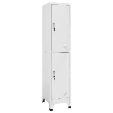 "vidaXL Locker Cabinet with 2 Compartments 15""x17.7""x70.9""[1/9]"