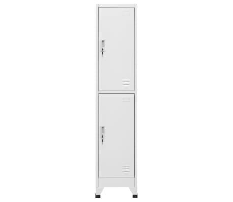 "vidaXL Locker Cabinet with 2 Compartments 15""x17.7""x70.9""[2/9]"