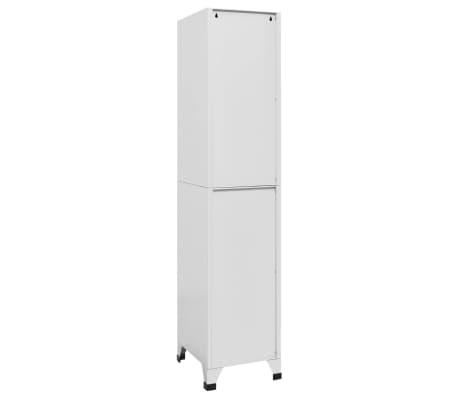 "vidaXL Locker Cabinet with 2 Compartments 15""x17.7""x70.9""[5/9]"