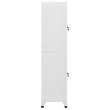 "vidaXL Locker Cabinet with 2 Compartments 15""x17.7""x70.9""[4/9]"