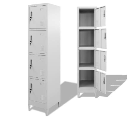 "vidaXL Locker Cabinet with 4 Compartments 15""x17.7""x70.9"""