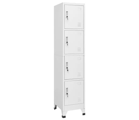 vidaXL Locker Cabinet with 4 Compartments 38x45x180 cm