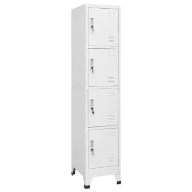"vidaXL Locker Cabinet with 4 Compartments 15""x17.7""x70.9""[1/7]"