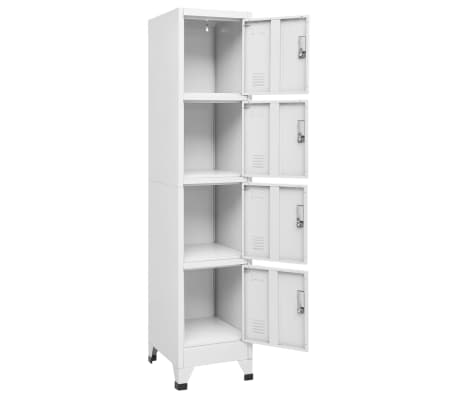 "vidaXL Locker Cabinet with 4 Compartments 15""x17.7""x70.9""[3/7]"