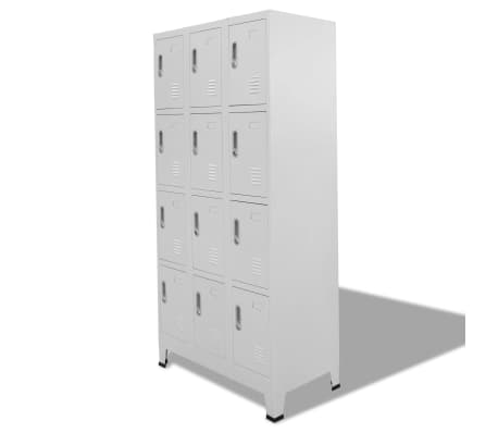 "vidaXL Locker Cabinet with 12 Compartments 35.4""x17.7""x70.9""[2/8]"