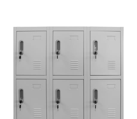 "vidaXL Locker Cabinet with 12 Compartments 35.4""x17.7""x70.9""[4/8]"