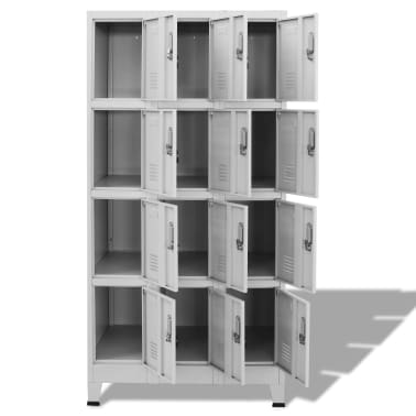 "vidaXL Locker Cabinet with 12 Compartments 35.4""x17.7""x70.9""[3/8]"