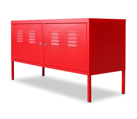 "vidaXL TV Cabinet 46.5""x15.7""x23.6"" Red[3/9]"