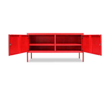 "vidaXL TV Cabinet 46.5""x15.7""x23.6"" Red[4/9]"