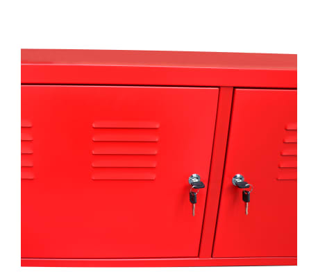 "vidaXL TV Cabinet 46.5""x15.7""x23.6"" Red[6/9]"