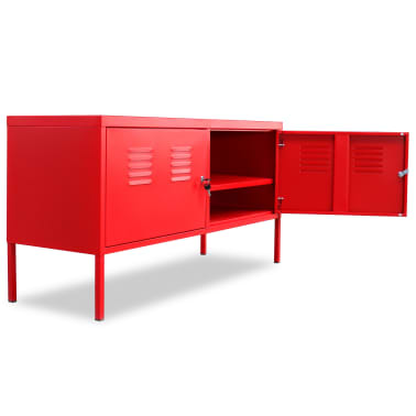 "vidaXL TV Cabinet 46.5""x15.7""x23.6"" Red[5/9]"
