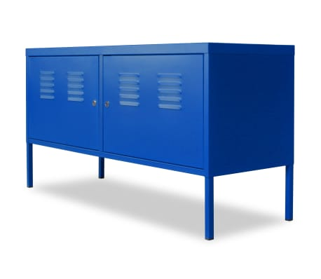 "vidaXL TV Cabinet 46.5""x15.7""x23.6"" Blue[3/9]"