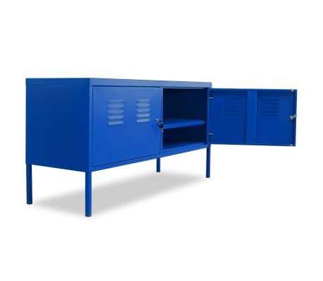 "vidaXL TV Cabinet 46.5""x15.7""x23.6"" Blue[5/9]"