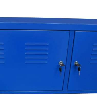 "vidaXL TV Cabinet 46.5""x15.7""x23.6"" Blue[6/9]"