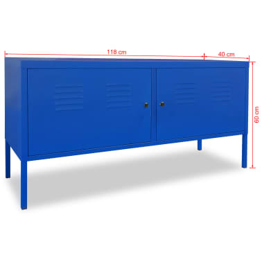 "vidaXL TV Cabinet 46.5""x15.7""x23.6"" Blue[9/9]"