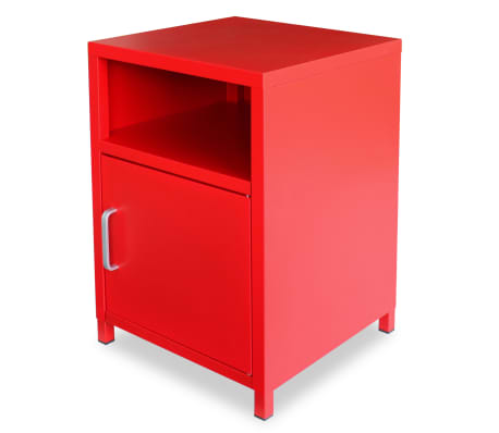 acheter vidaxl table de chevet 35 x 35 x 51 cm rouge pas cher. Black Bedroom Furniture Sets. Home Design Ideas