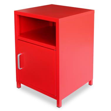 acheter vidaxl table de chevet 35 x 35 x 51 cm rouge pas. Black Bedroom Furniture Sets. Home Design Ideas