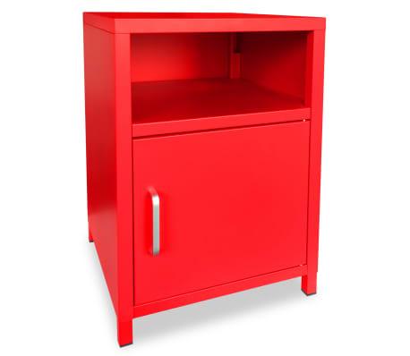 acheter vidaxl table de chevet 35 x 35 x 51 cm rouge pas cher. Black Bedroom Furniture Sets. Home Design Ideas